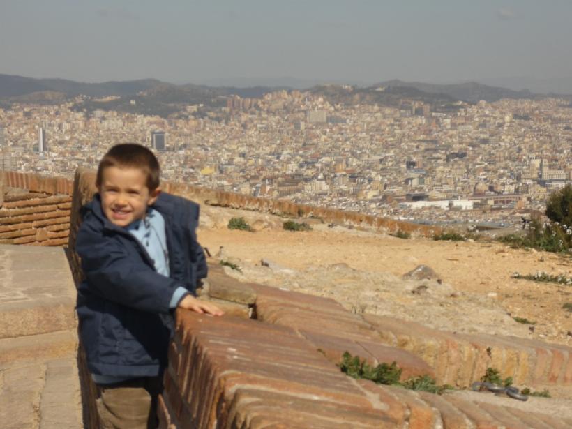 Vistas de la ciudad desde Montjuic