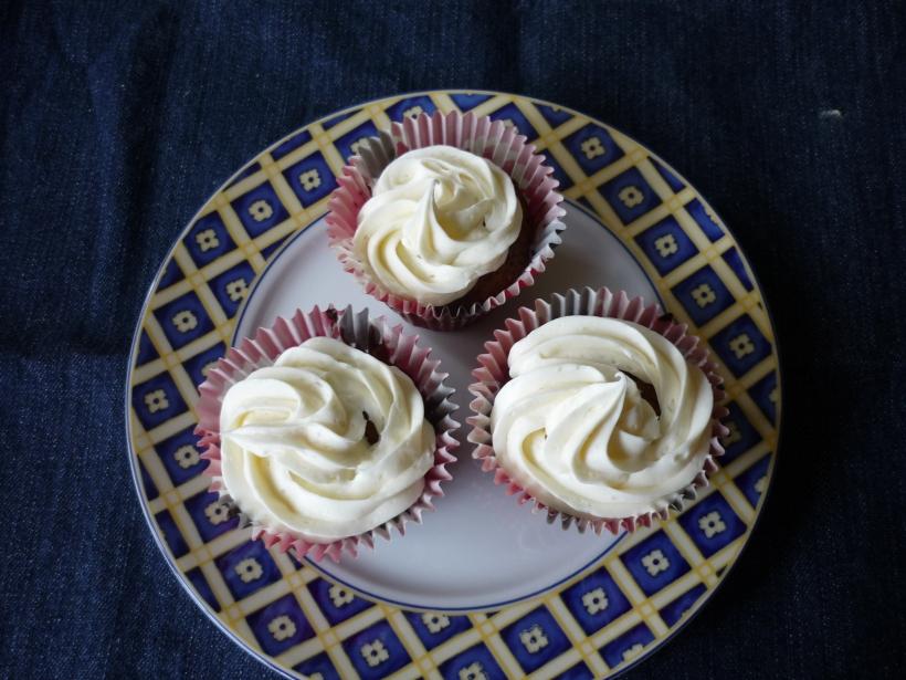 Vista de nuestros cupcakes decorados!