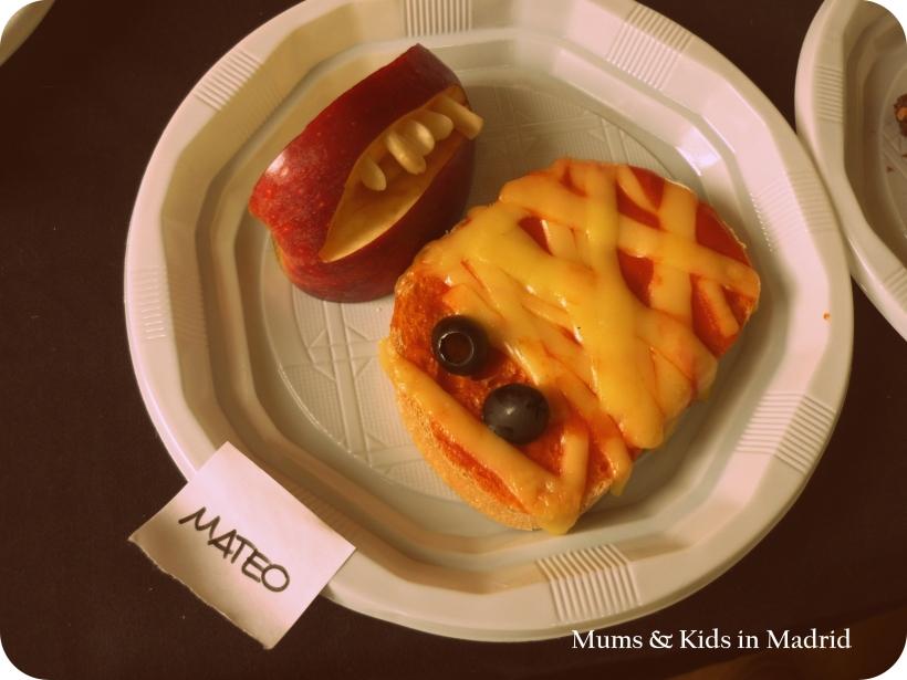 Momia y dientes de Halloween!