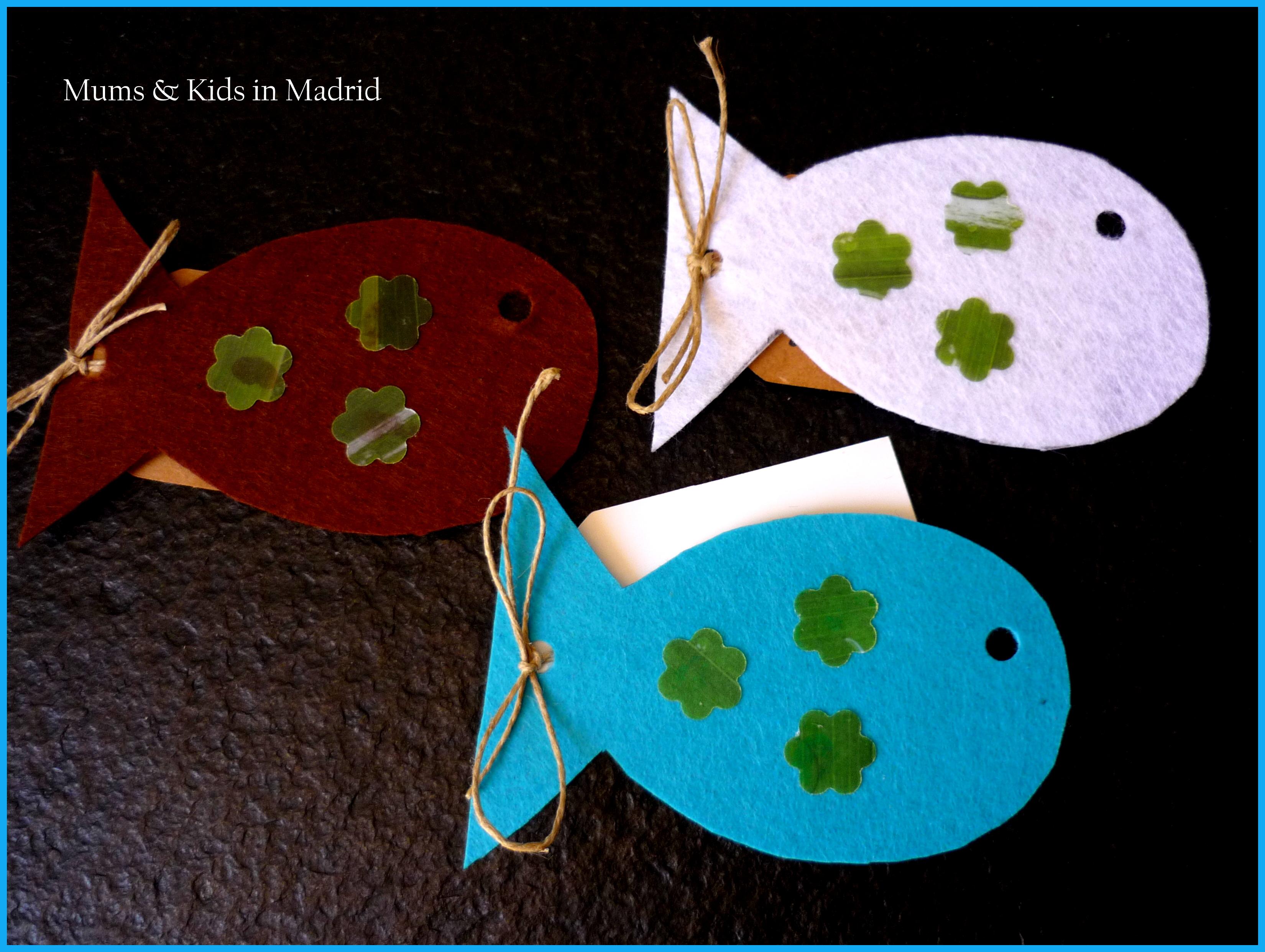 Diy pececitos de colores mums kids - Como hacer figuras con chuches ...