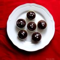 Muffins de Plátano, rellenos de Dulce de Leche y ganache de Chocolate