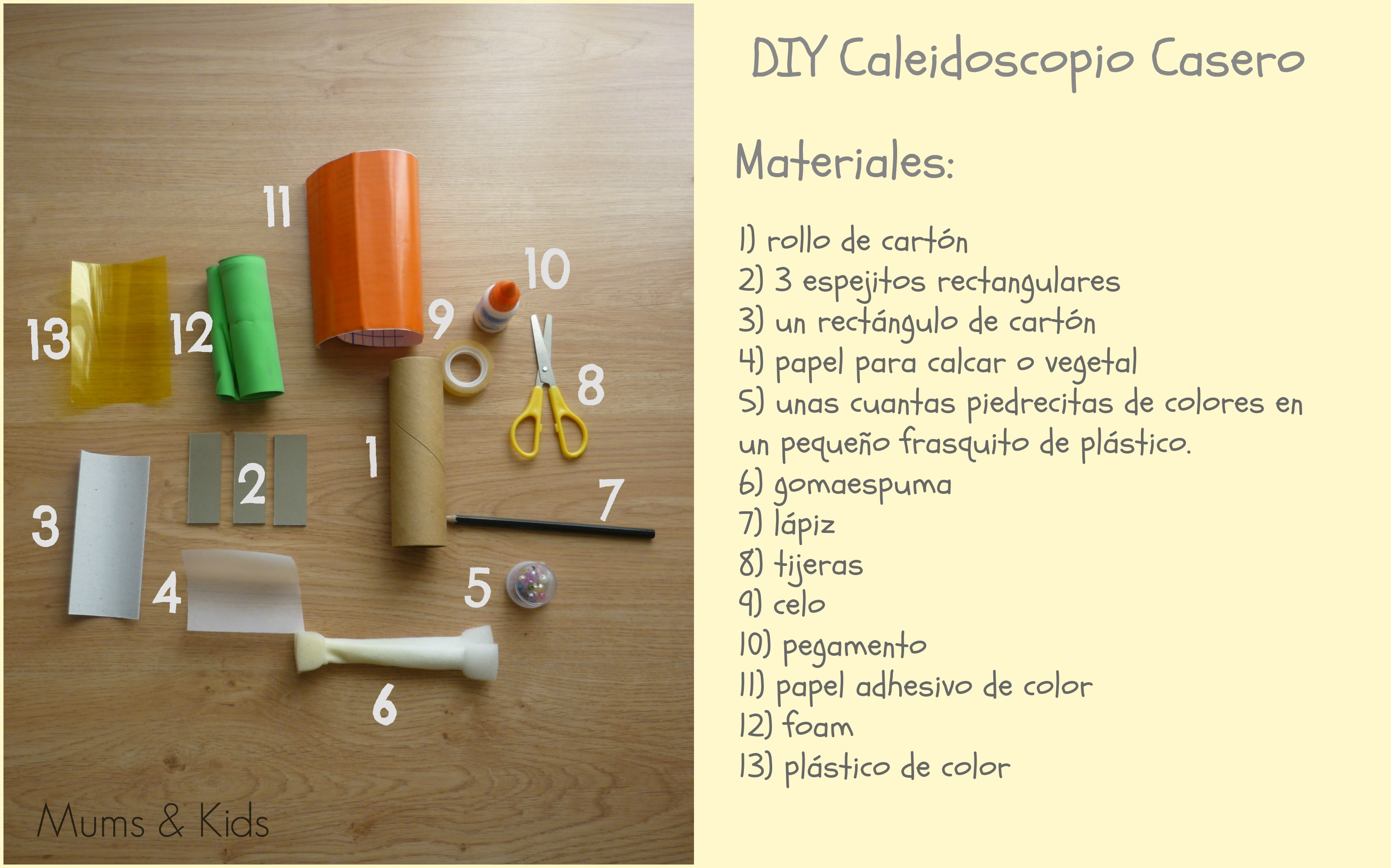 Diy caleidoscopio casero mums kids for Materiales para un vivero forestal