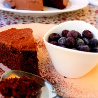 Tarta de Chocolate casi vegana